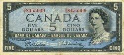 5 Dollars CANADA  1954 P.077b TTB
