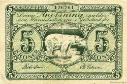 5 Kroner GROENLAND  1945 P.15b TB