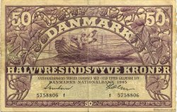 50 Kroner DANEMARK  1945 P.038b TTB