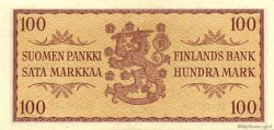 100 Markkaa FINLANDE  1957 P.097a SPL