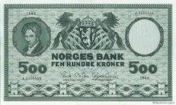 500 Kroner NORVÈGE  1966 P.34d NEUF