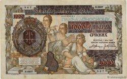 1000 Dinara sur 500 SERBIE  1941 P.24 TB+