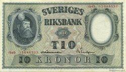 10 Kronor SUÈDE  1949 P.40j pr.NEUF