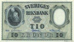 10 Kronor SUÈDE  1953 P.43a SPL