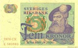 5 Kronor SUÈDE  1978 P.51d NEUF