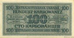 100 Karbowanez UKRAINE  1942 P.055 SUP+