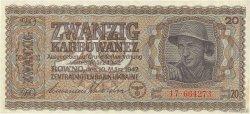 20 Karbowanez UKRAINE  1942 P.053 SPL