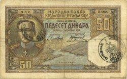 50 Dinara YOUGOSLAVIE  1931 P.028 TB