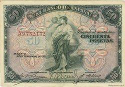50 Pesetas ESPAGNE  1906 P.058a pr.SUP