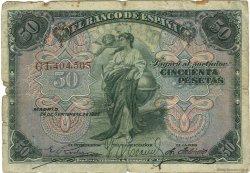 50 Pesetas ESPAGNE  1906 P.058a B