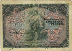 50 Pesetas ESPAGNE  1906 P.058a TB