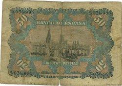 50 Pesetas ESPAGNE  1907 P.063a B+
