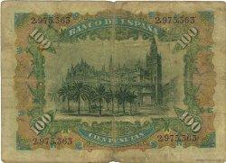 100 Pesetas ESPAGNE  1907 P.064a B