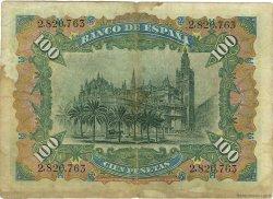 100 Pesetas ESPAGNE  1907 P.064a TB+