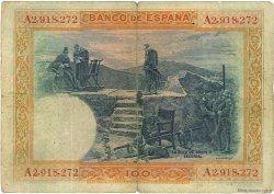 100 Pesetas ESPAGNE  1925 P.069a TB
