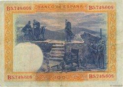 100 Pesetas ESPAGNE  1925 P.069a TB à TTB