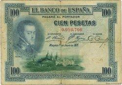 100 Pesetas ESPAGNE  1925 P.069b B+