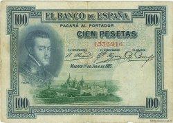 100 Pesetas ESPAGNE  1925 P.069b TB
