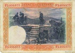 100 Pesetas ESPAGNE  1925 P.069c TB