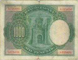 1000 Pesetas ESPAGNE  1925 P.070a TB+