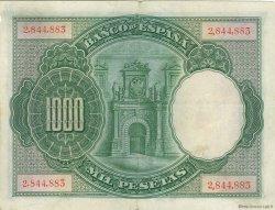 1000 Pesetas ESPAGNE  1925 P.070a TTB