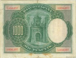 1000 Pesetas ESPAGNE  1925 P.070b TB+