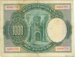 1000 Pesetas ESPAGNE  1925 P.070c TB
