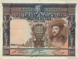 1000 Pesetas ESPAGNE  1925 P.070c TTB