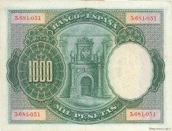 1000 Pesetas ESPAGNE  1925 P.070c TTB à SUP
