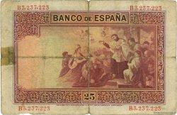 25 Pesetas ESPAGNE  1926 P.071a B+