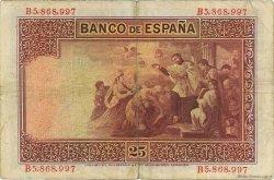 25 Pesetas ESPAGNE  1925 P.071a pr.TTB