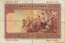 25 Pesetas ESPAGNE  1926 P.071a TTB