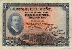 50 Pesetas ESPAGNE  1927 P.072a TTB