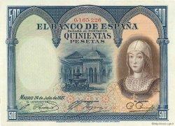 500 Pesetas ESPAGNE  1927 P.073a pr.SPL