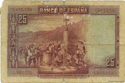 25 Pesetas ESPAGNE  1928 P.074a B+