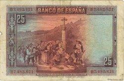 25 Pesetas ESPAGNE  1928 P.074b TB