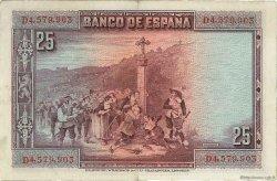 25 Pesetas ESPAGNE  1928 P.074b TTB