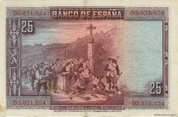 25 Pesetas ESPAGNE  1928 P.074b TTB+