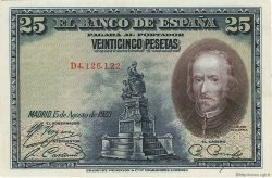 25 Pesetas ESPAGNE  1928 P.074b SUP+