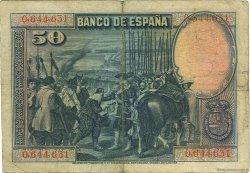 50 Pesetas ESPAGNE  1928 P.075a TB