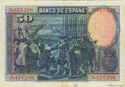 50 Pesetas ESPAGNE  1928 P.075a TTB