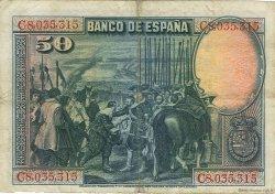 50 Pesetas ESPAGNE  1928 P.075b TTB