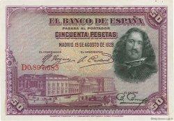 50 Pesetas ESPAGNE  1928 P.075b SUP+