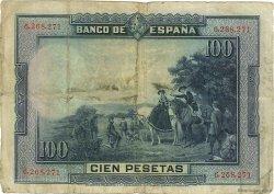 100 Pesetas ESPAGNE  1928 P.076a TB