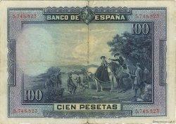100 Pesetas ESPAGNE  1928 P.076a pr.TTB