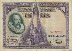 100 Pesetas ESPAGNE  1928 P.076a TTB+