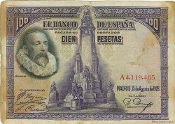 100 Pesetas ESPAGNE  1928 P.076a B+