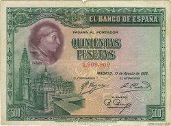 500 Pesetas ESPAGNE  1928 P.077a TB