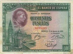 500 Pesetas ESPAGNE  1928 P.077a TTB