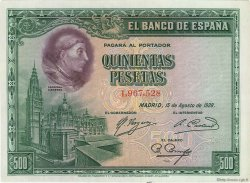 500 Pesetas ESPAGNE  1928 P.077a pr.NEUF